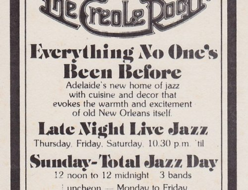 The Creole Room, Adelaide – 1977