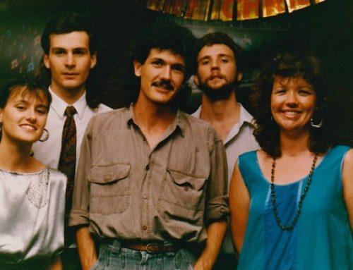 L-R: Helen Russell, Andrew McNaughton, Steve Russell, Ken Eadie, Sharny